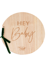 Ginger Ray Botanical Houten Hey Baby Gastenboek