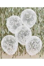 Ginger Ray Botanical Hey Baby Confetti Ballonnen Wit