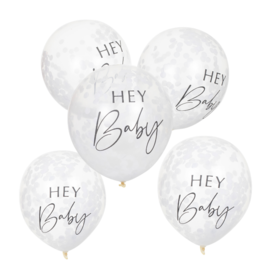 Ginger Ray Botanical Hey Baby Confetti Ballonnen