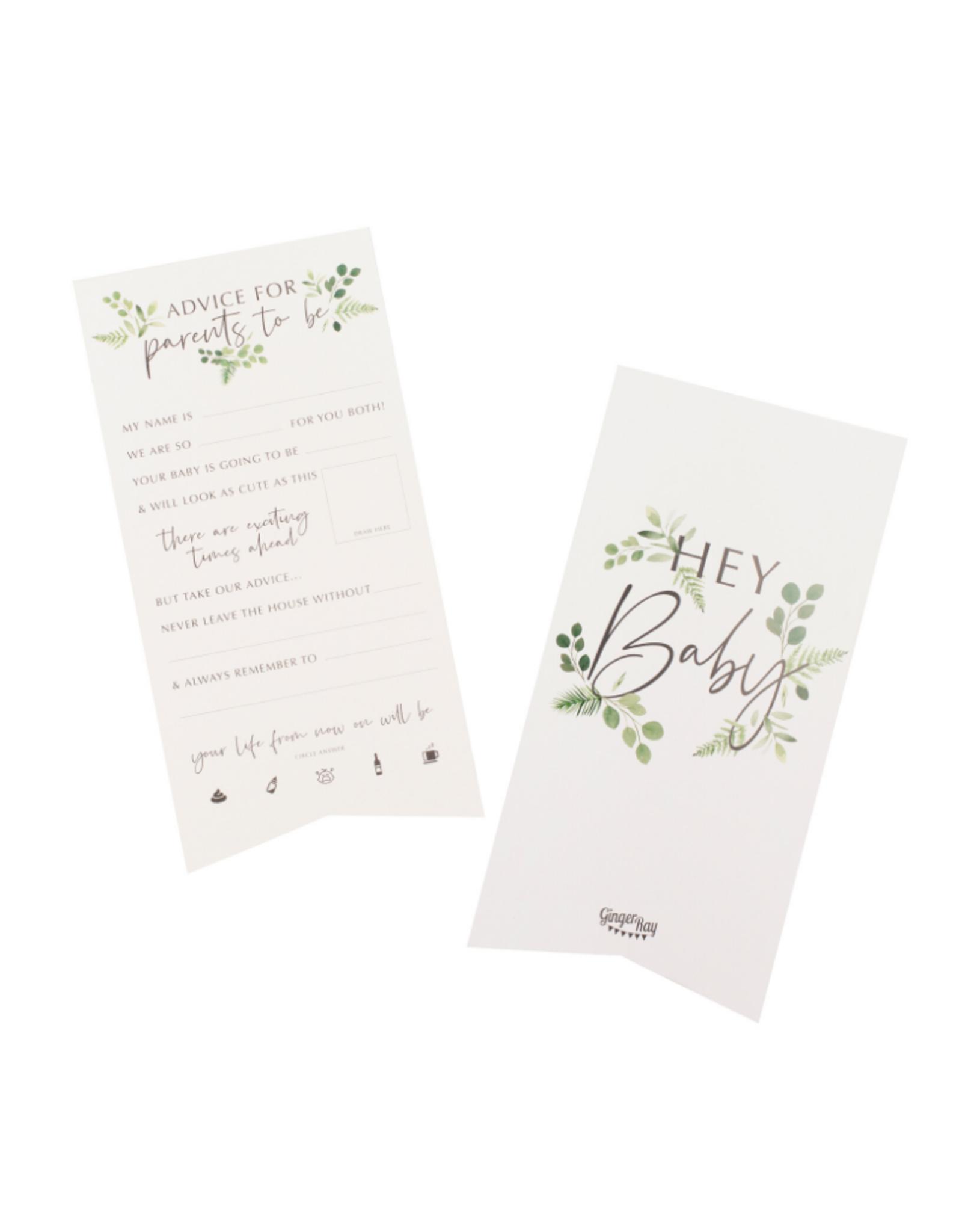 Ginger Ray Botanical Hey Baby Advieskaarten