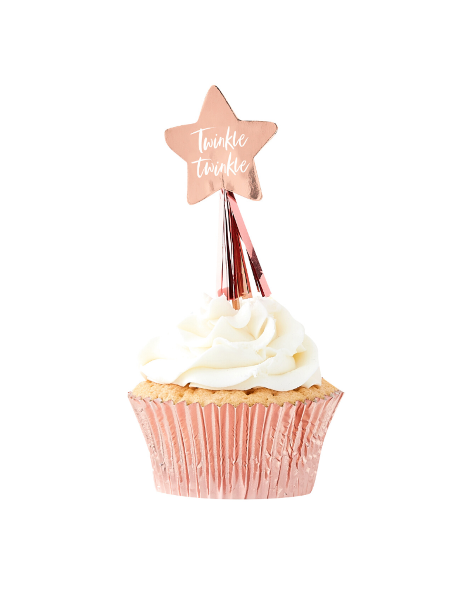Ginger Ray Twinkle Twinkle  Cupcake Toppers Rosé Goud