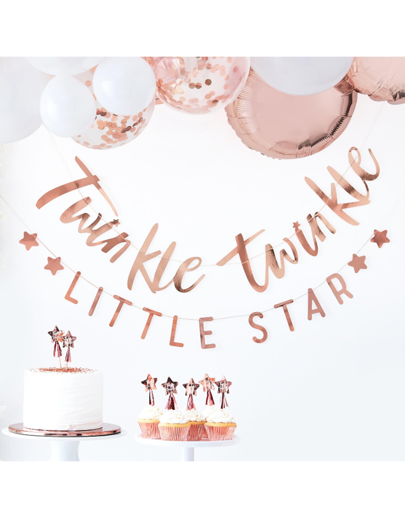 Ginger Ray Twinkle Twinkle Little Star Slinger Rosé Goud