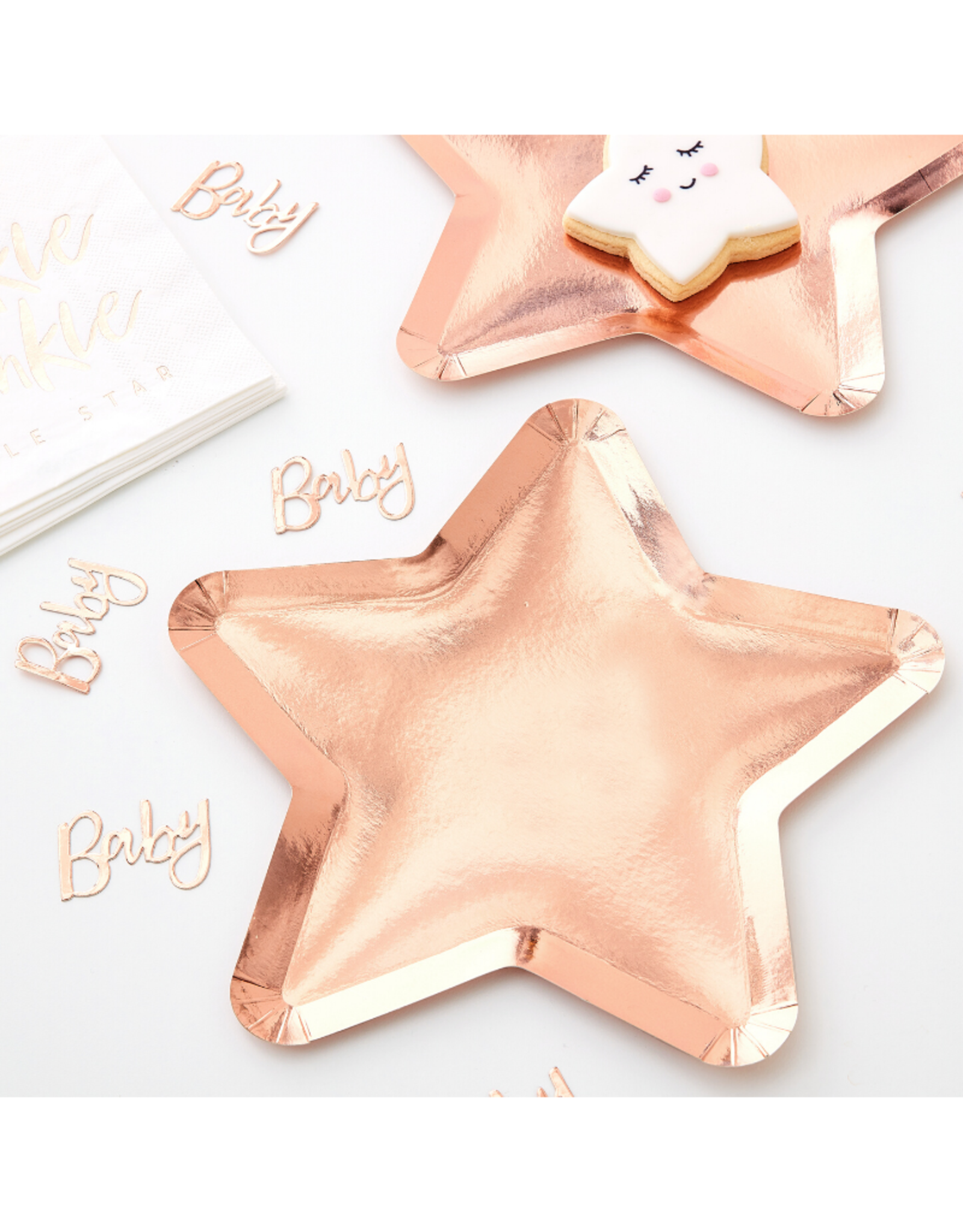 Ginger Ray  Twinkle Twinkle Bordjes Rosé Goud