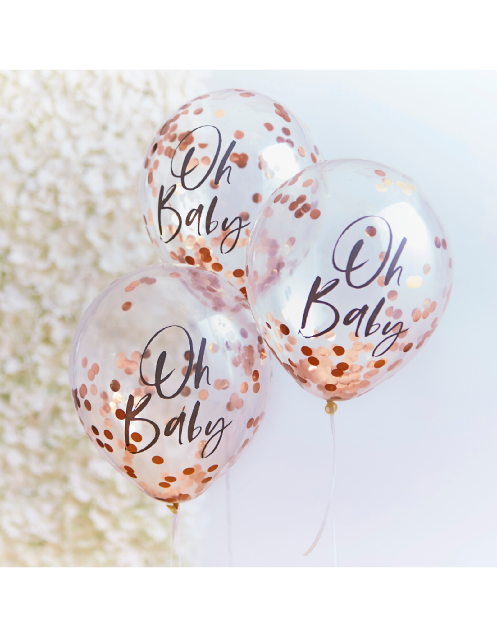 Ginger Ray Oh Baby! Ballonnen Confetti Rose Goud