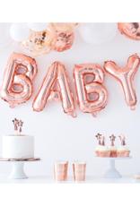 Ginger Ray Twinkle Twinkle Baby Folieballon Rosé Goud