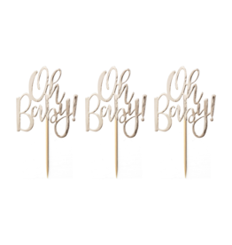 Ginger Ray Oh Baby! Cupcake Toppers