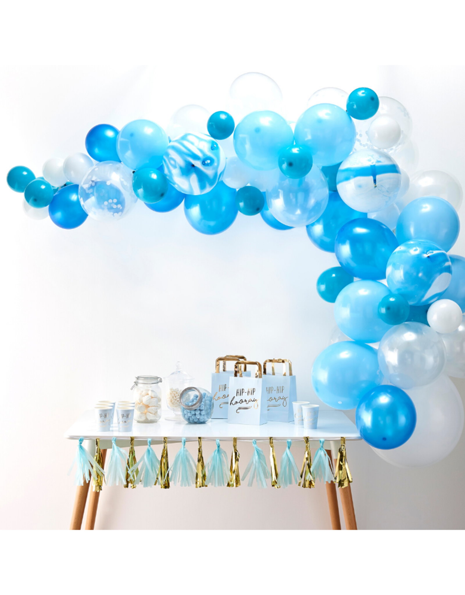 Ginger Ray Ballonnenboog Blauw DIY Kit