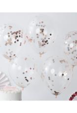Ginger Ray Confetti Ballonnen Rosé Goud