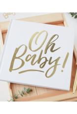 Ginger Ray Oh Baby! Gastenboek Goud