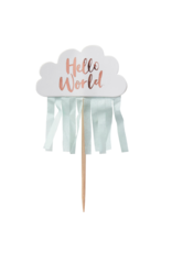 Ginger Ray Hello World Cupcake Toppers