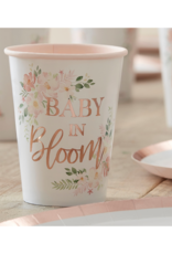 Ginger Ray Baby in Bloom Floral Bekertjes