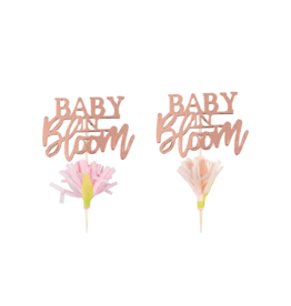 Ginger Ray Baby in Bloom Cupcake Toppers