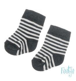 Feetje Sok Mini Person Antraciet melange