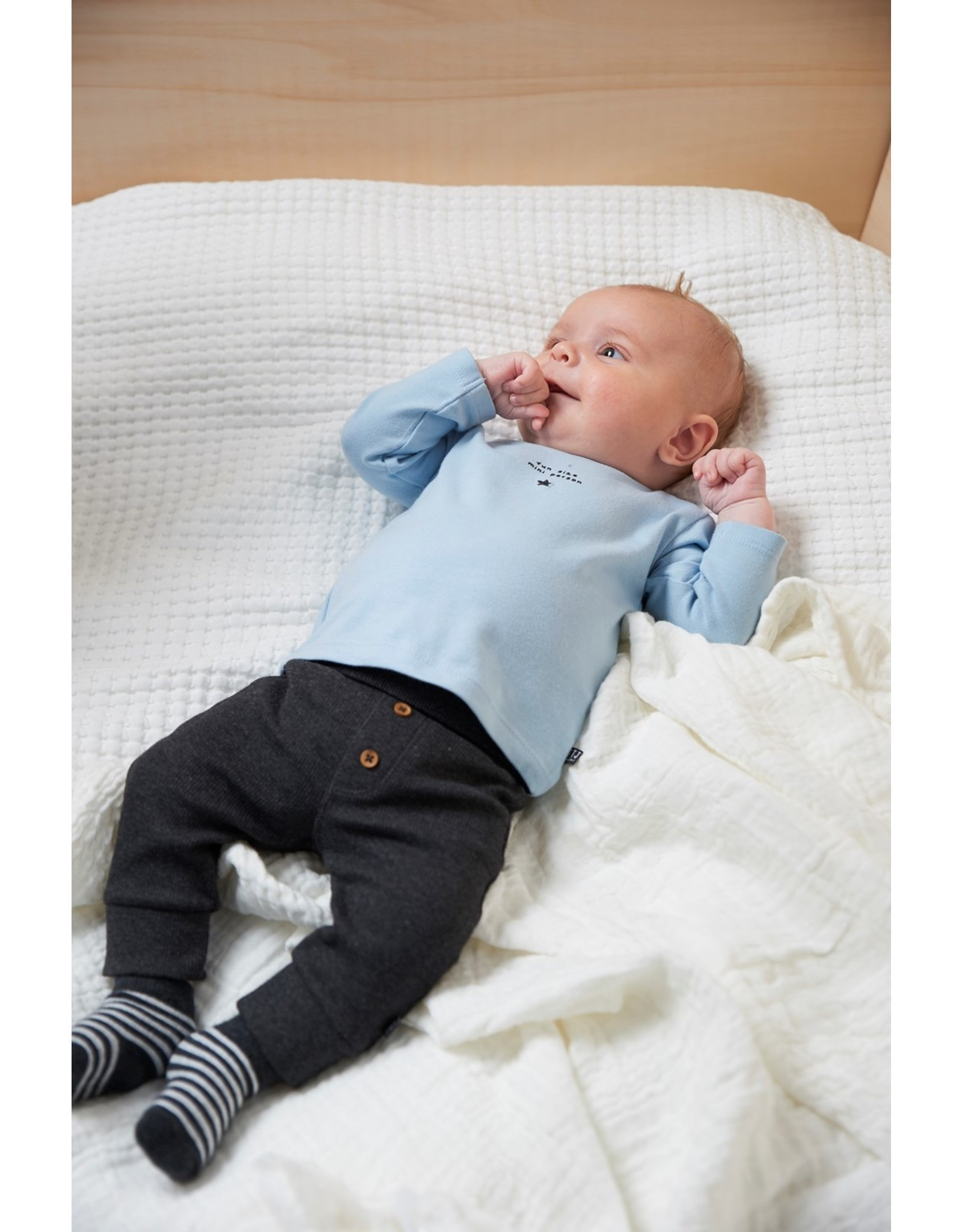 Feetje Longsleeve Fun Little Person - Mini Person Blauw
