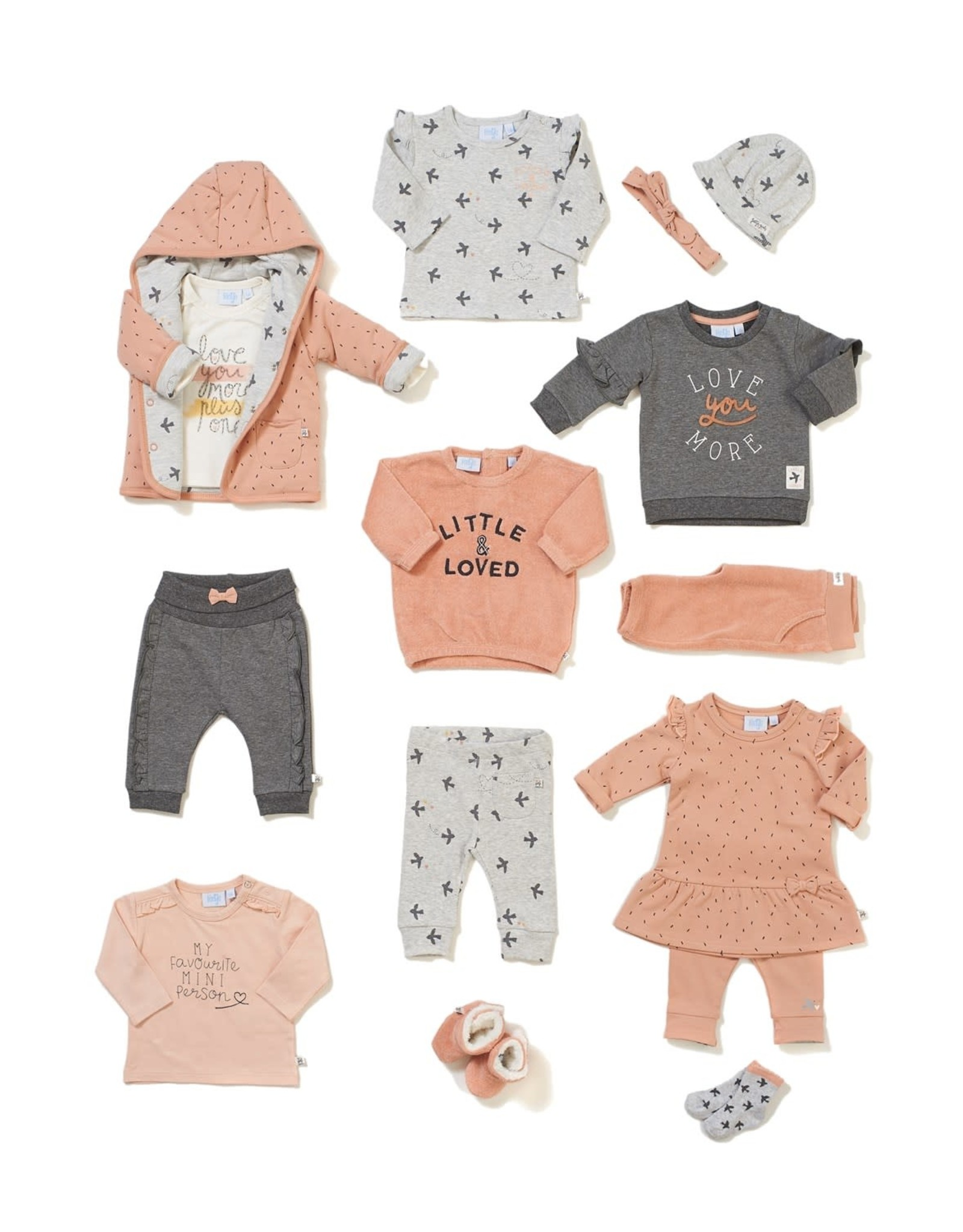 Feetje Sweater Love You - Little and Loved Antraciet melange
