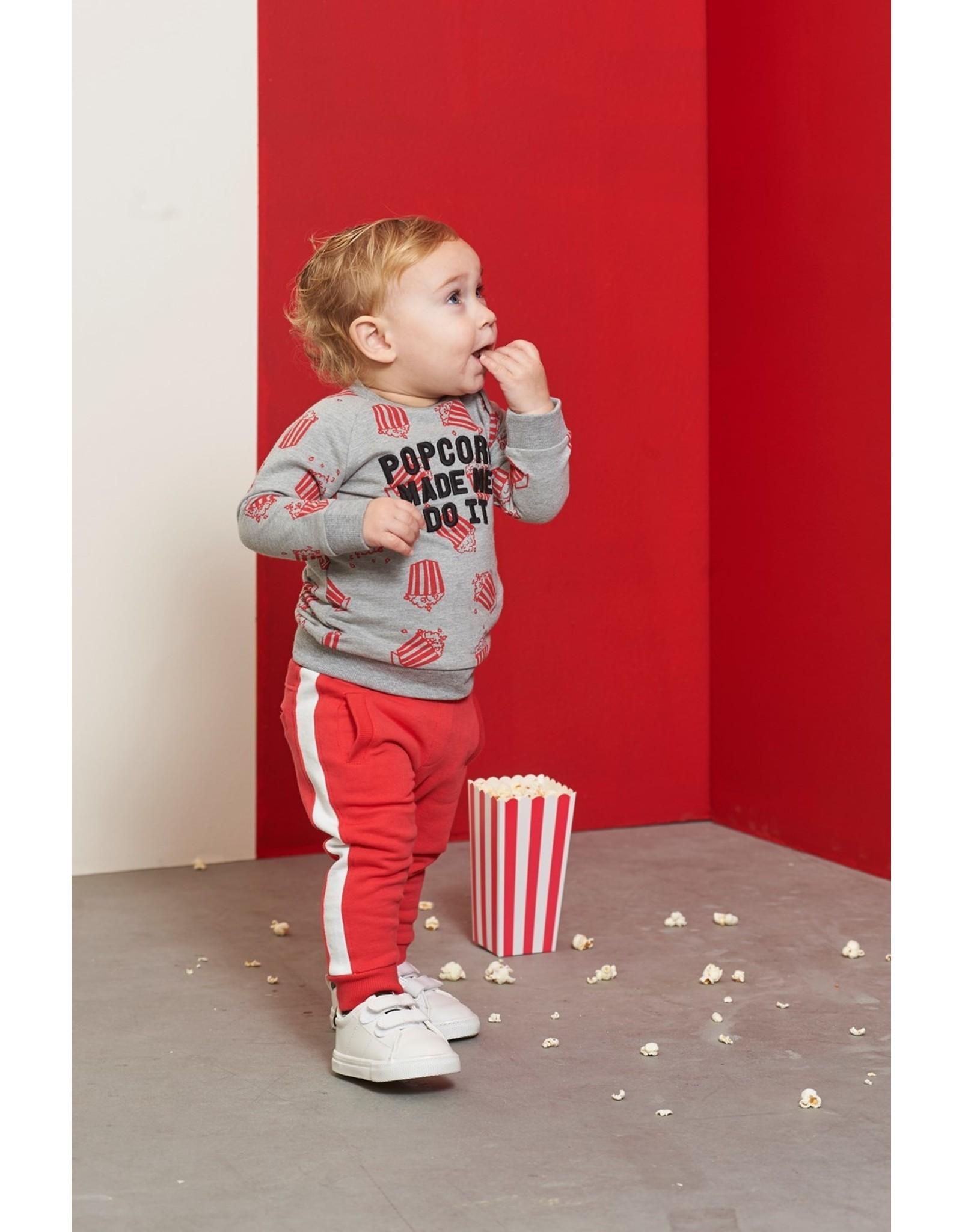 Feetje Sweater Made Me - Popcorn Party Grijs melange