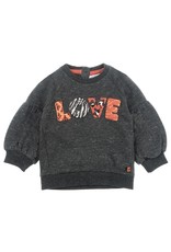 Feetje Sweater Love - Zebra Antraciet melange