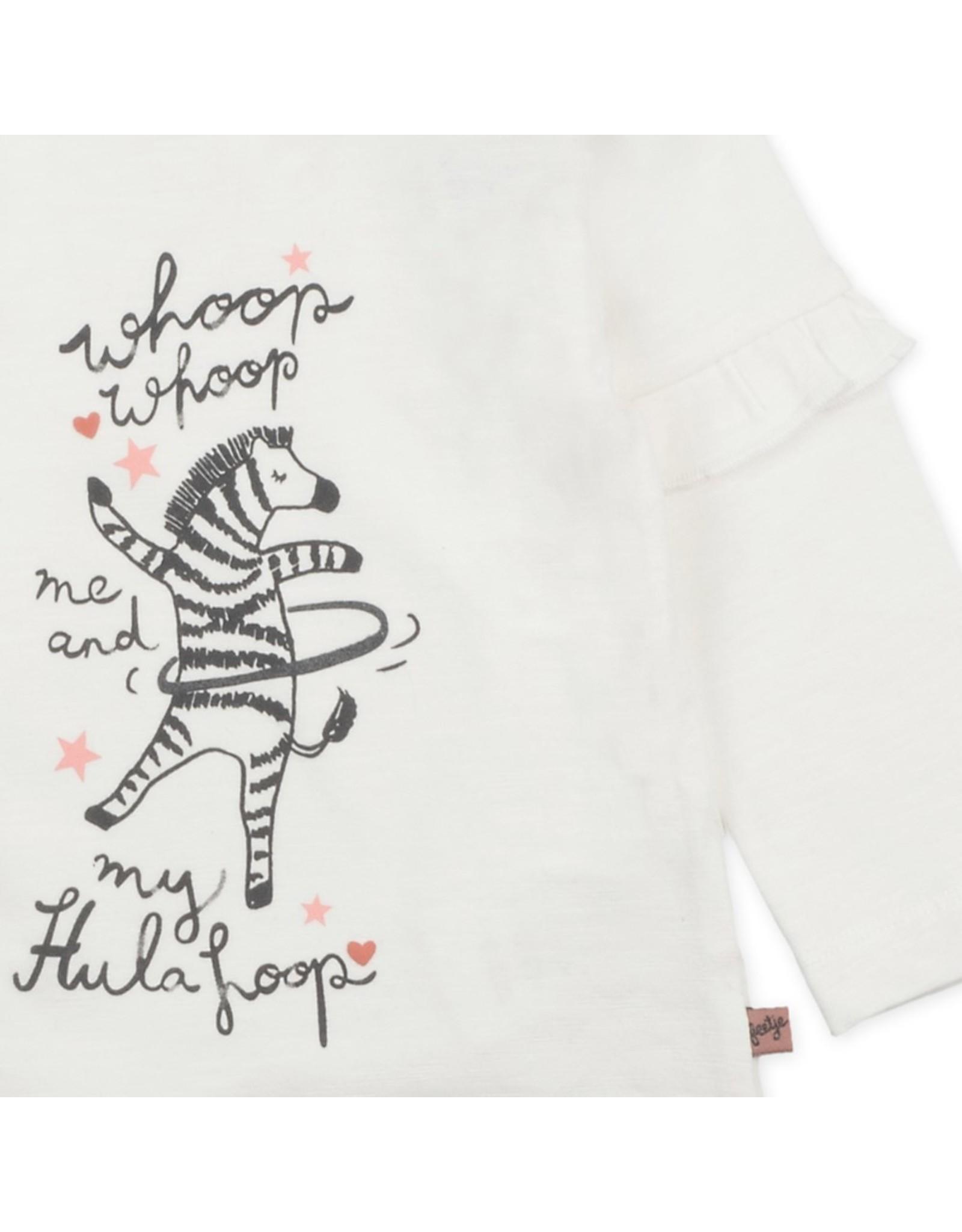 Feetje Longsleeve Whoop Whoop - Zebra Offwhite
