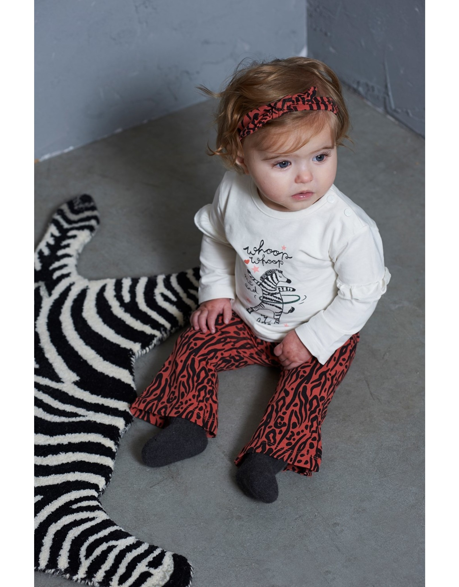 Feetje Flare broek - Zebra