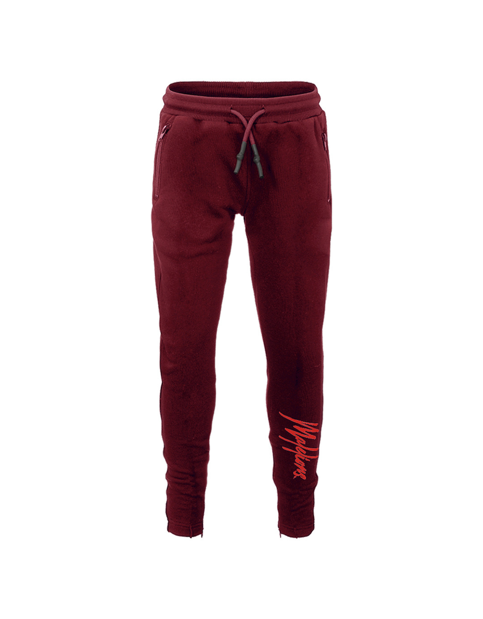 Malelions Junior Trackpants Signature Bordeaux