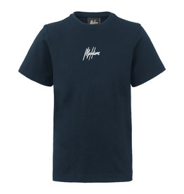 Malelions Junior T-shirt Small Signature Blue - Navy