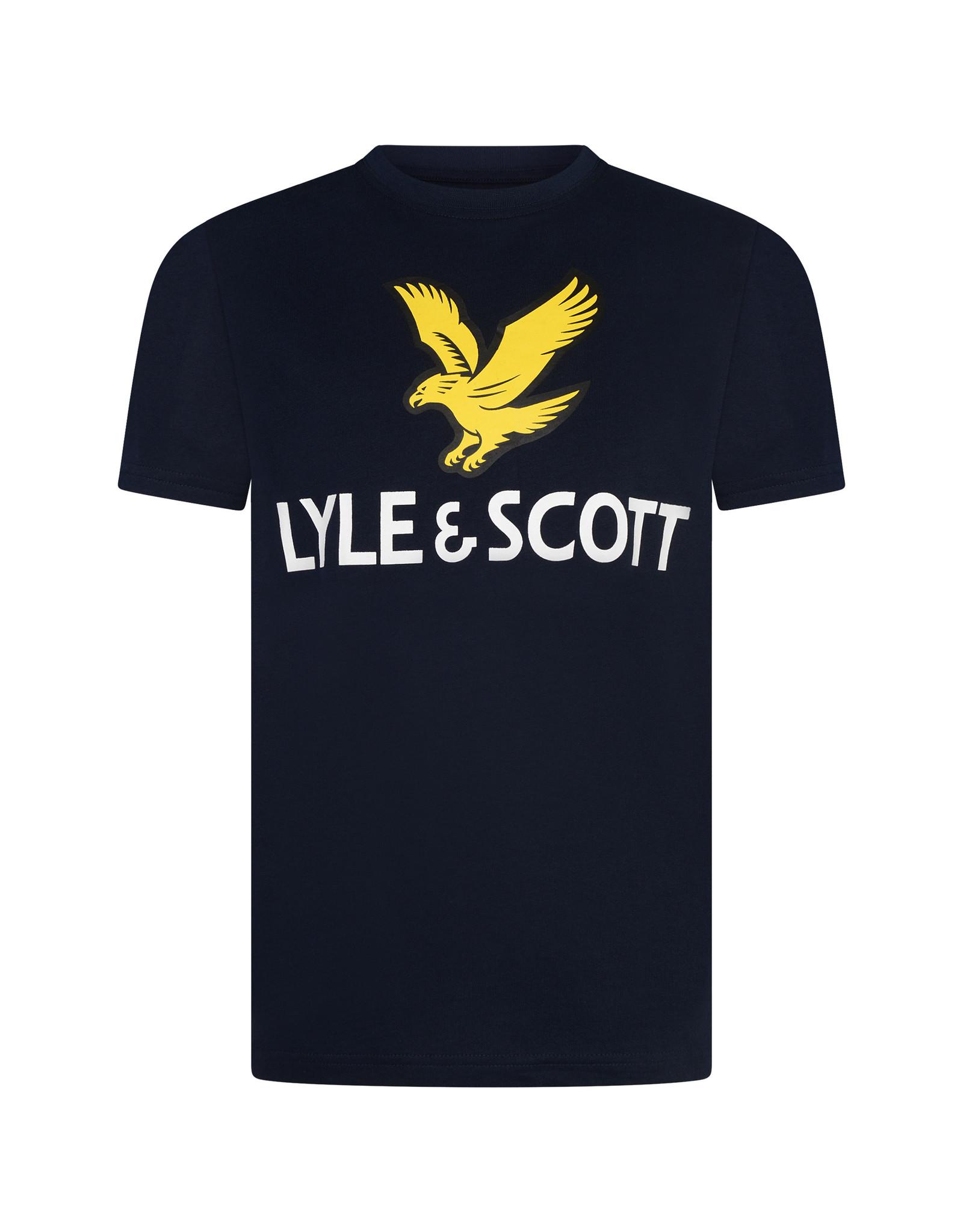 Lyle & Scott BOYS SS LYLE EAGLE LOGO T-SHIRT 203 NAVY BLAZER