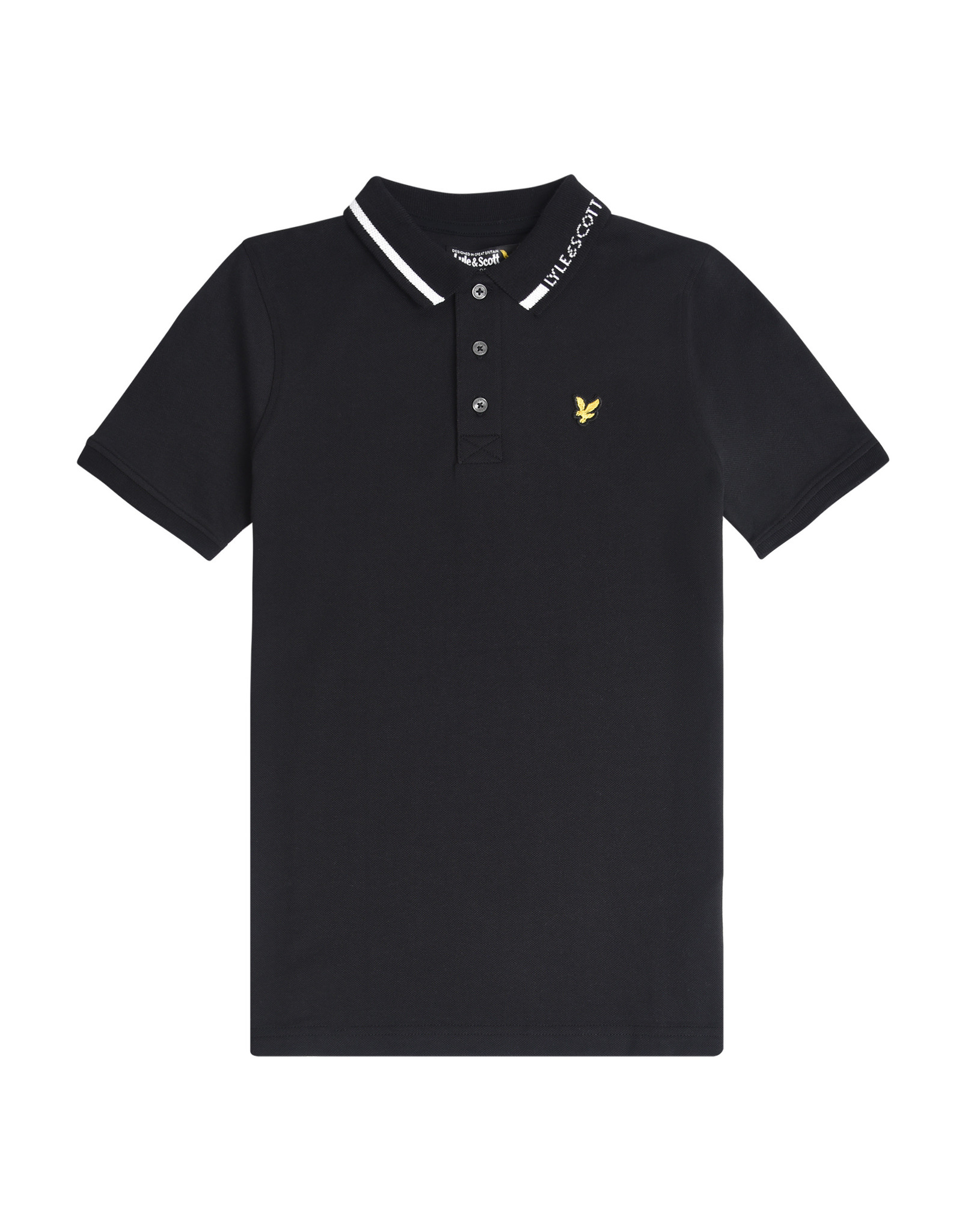 Lyle & Scott BOYS BRANDED COLLAR POLO 023 BLACK