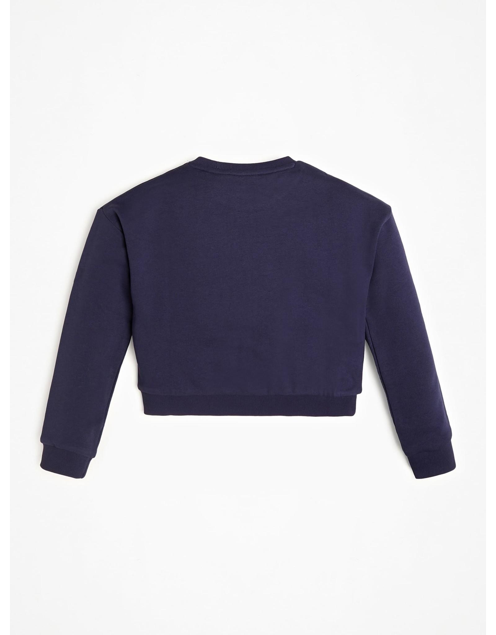 Guess Sweater Logo Icon Purple