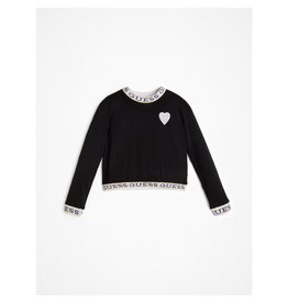 Guess Sweater Logo Tape Neon Black