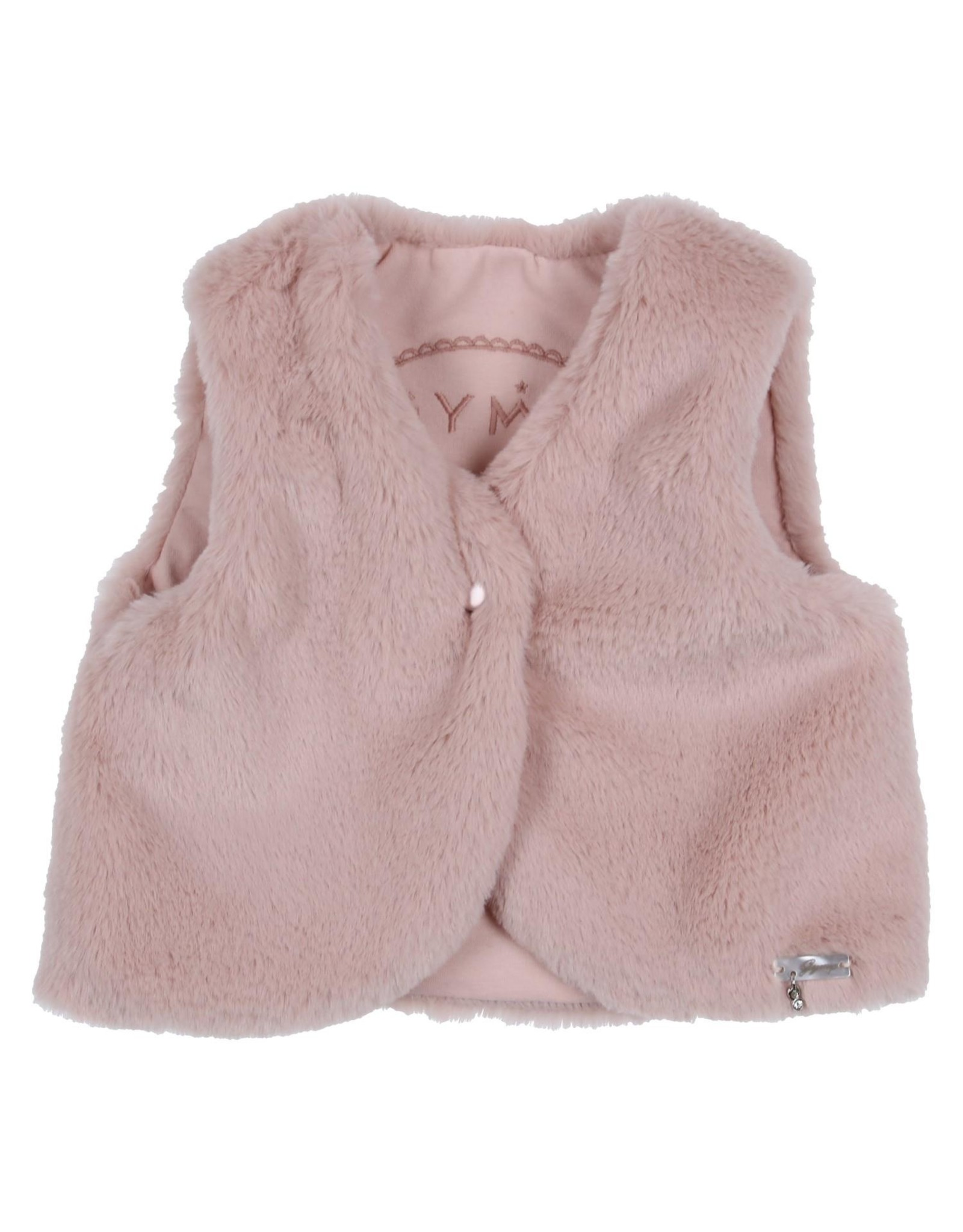 Gymp Gilet in Nepbont Vieux Rose