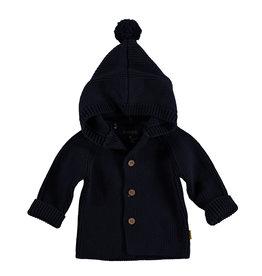 Bess Cardigan Knitted Hood Navy