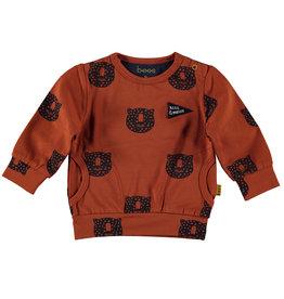 Bess Sweater AOP Tiger Rusty