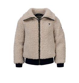 LOOXS 10sixteen Girls Bomber teddy jacket Desert