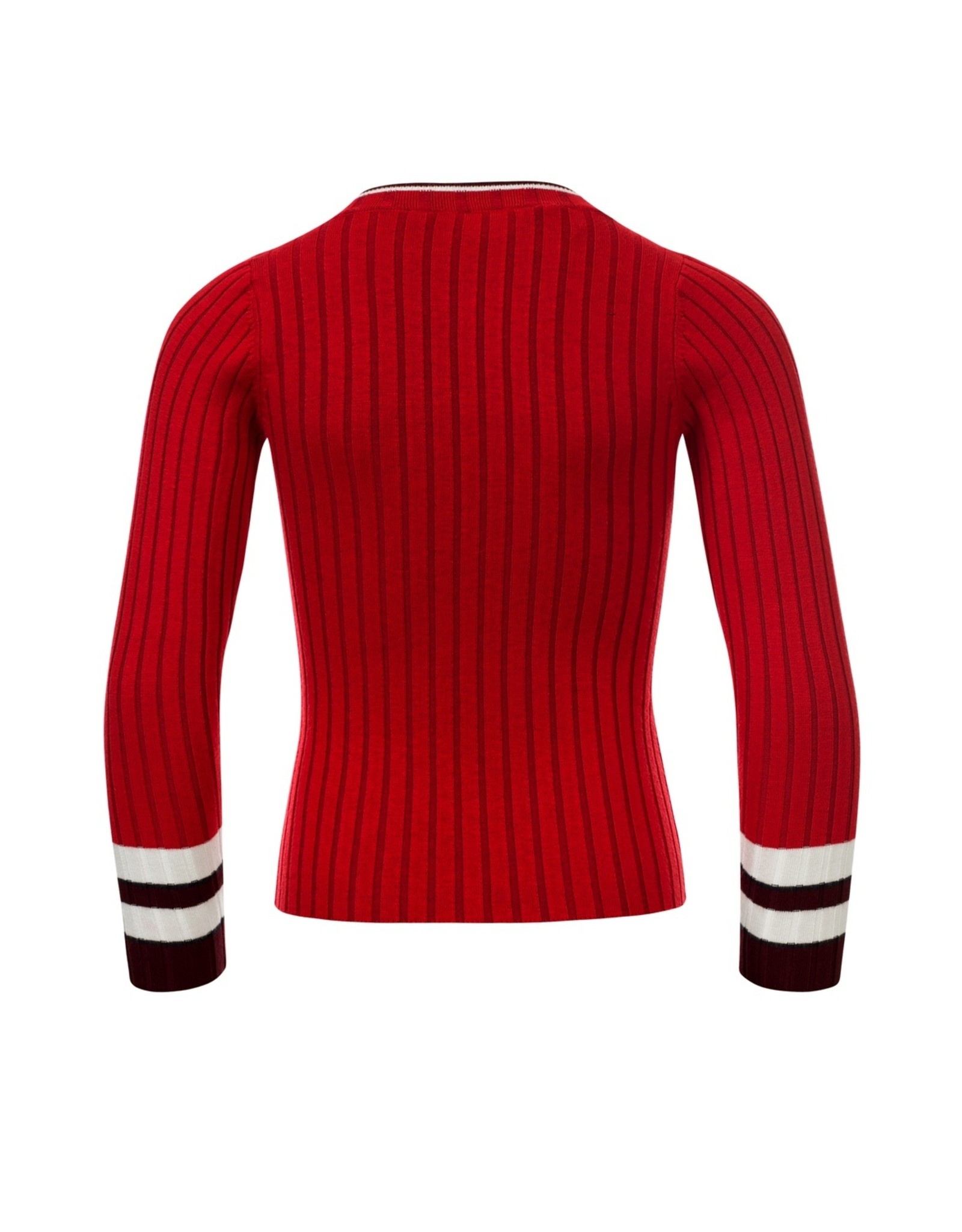 LOOXS 10sixteen Girls knitted top scarlet red