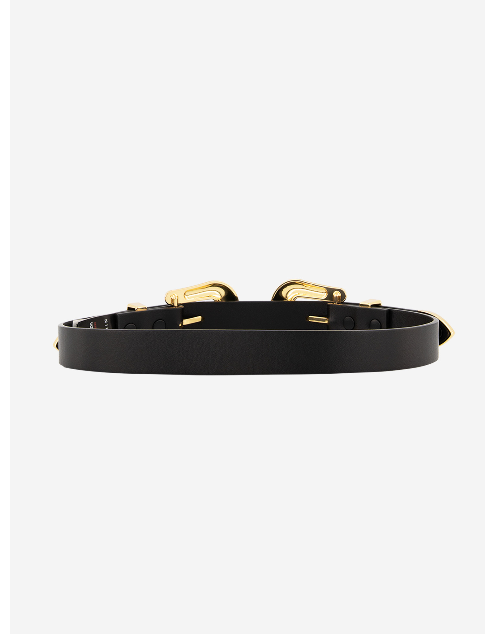 Nik & Nik Bia 2-Buckle Belt Black/Gold