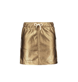 Like Flo girls metallic leather skirt Bronz