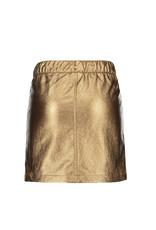 Like Flo girls metallic leather skirt Bronz
