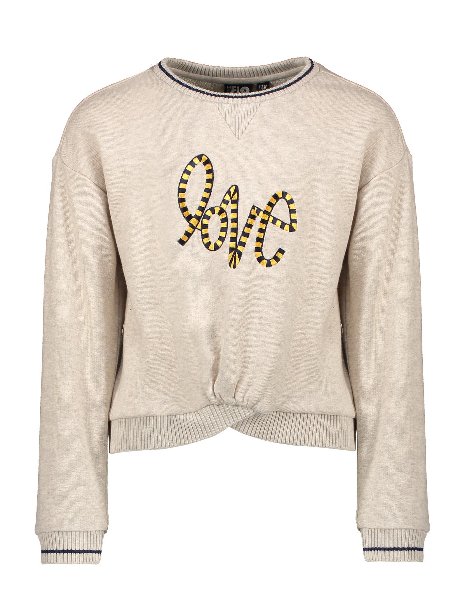 Like Flo girls oatmeal sweater LOVE Oatmeal