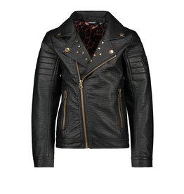 Like Flo girls imi leather biker jkt Black