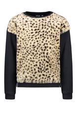 Like Flo girls sweater animal fur Navy