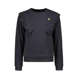 Like Flo girls sweater fancy rib ruffle Navy