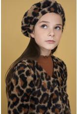 Like Flo girls animal hairy knit cardigan Animal