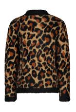 Like Flo girls animal hairy knit sweater Animal