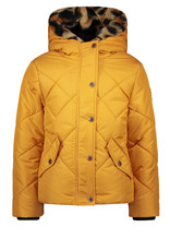 Like Flo girls hooded jacket. check quilting Oker