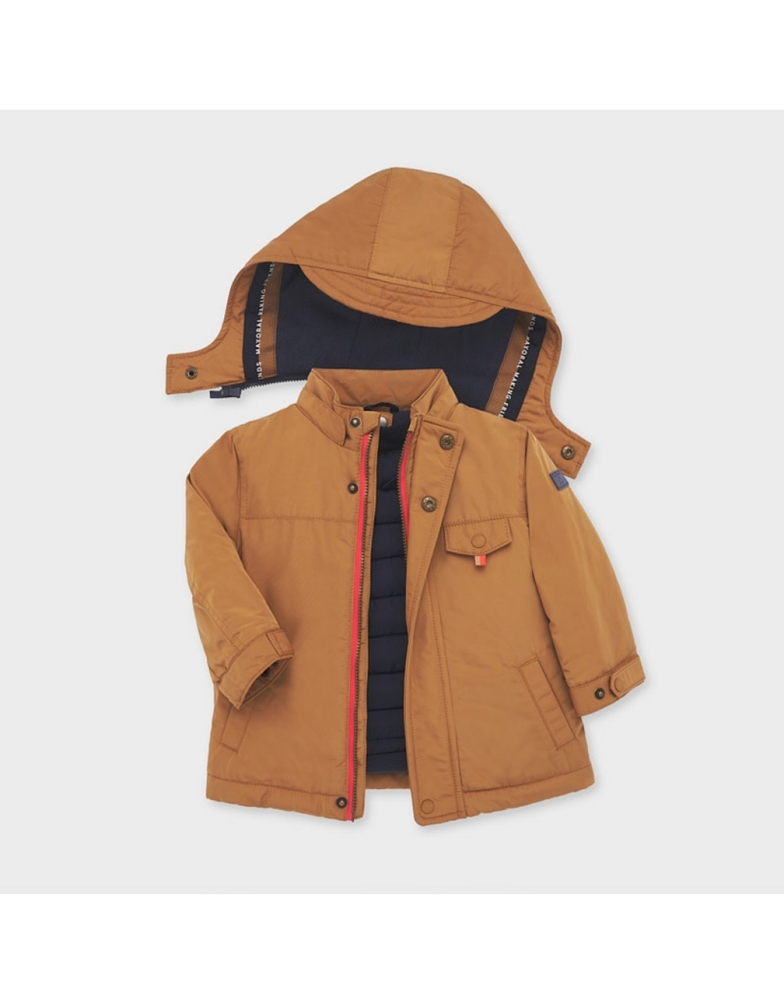 Mayoral Reversible coat Almond