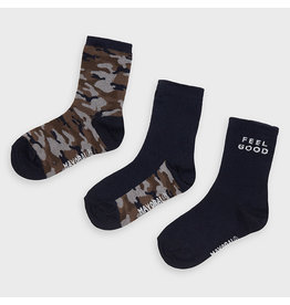 Mayoral Camouflage 3 socks set Navy