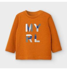 Mayoral L/s basic t-shirt Cheddar