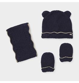 Mayoral Hat-scarf set Navy