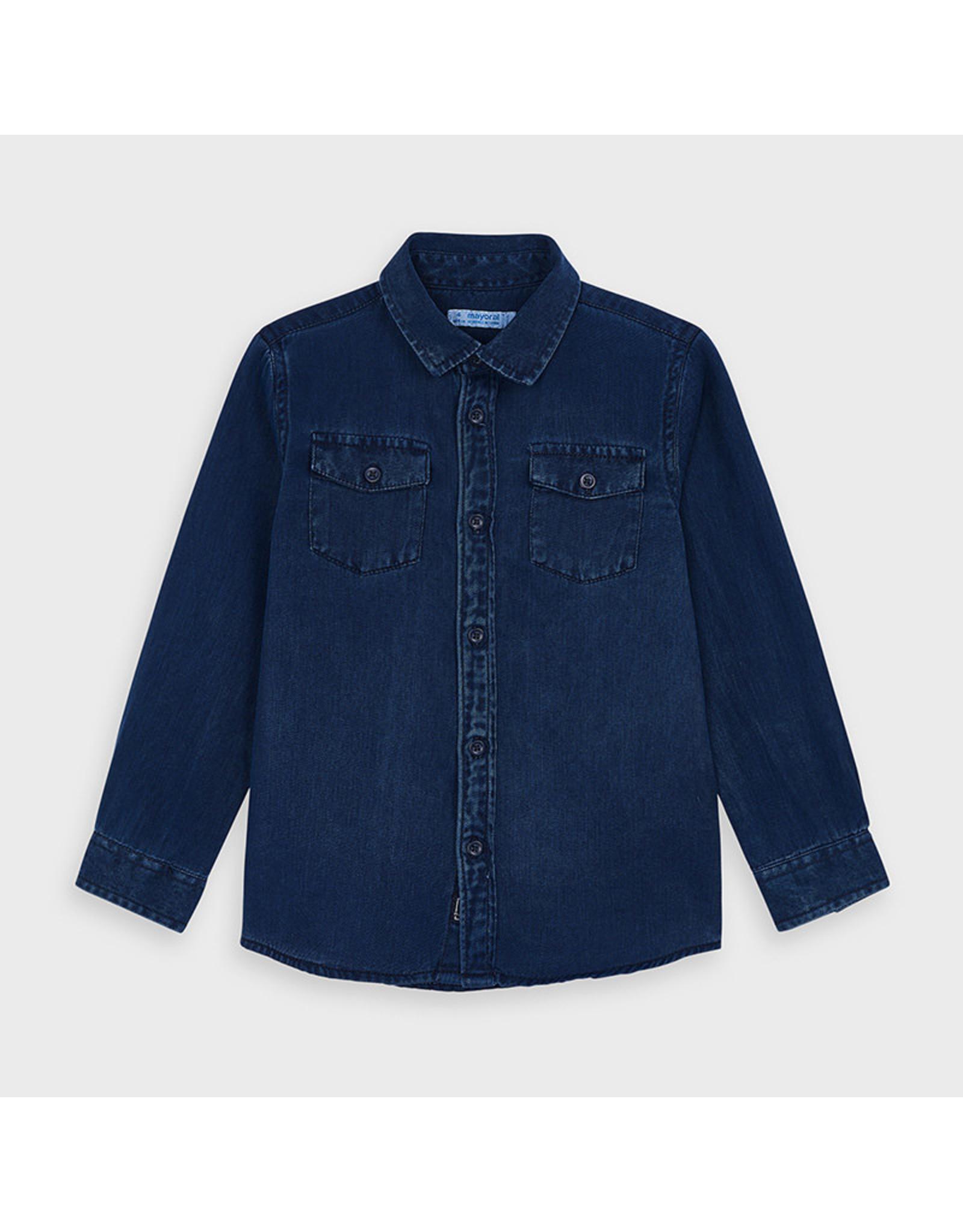 Mayoral L/s twill shirt Denim