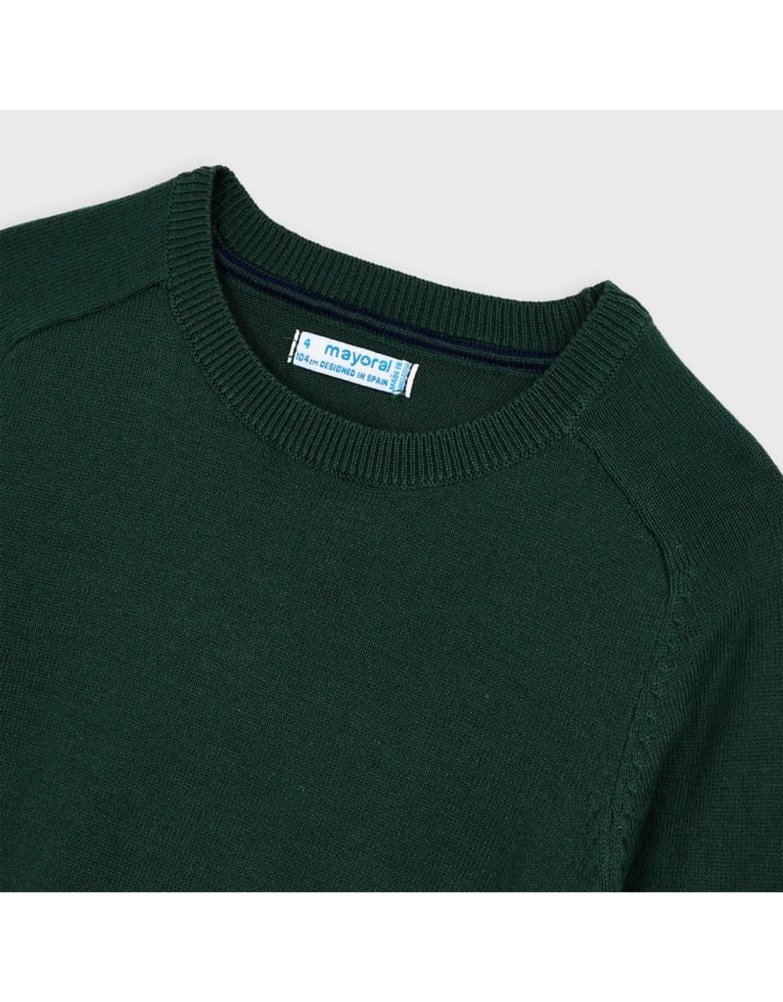 Mayoral Basic cotton sweater w/round SpanishFir